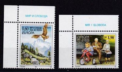 Jugoslawien 1995 Postfrisch Minr 2712-2713 Europa Frieden Und Freiheit Europa