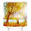 "72//79/"" Shower Curtain 100/% Polyester Waterproof Fabric Waterfall XMAS Snow Scene"