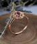 1-6ct-Oval-Cut-Red-Garnet-Engagement-Ring-14k-Rose-Gold-Finish-Vintage-Milgrain thumbnail 4