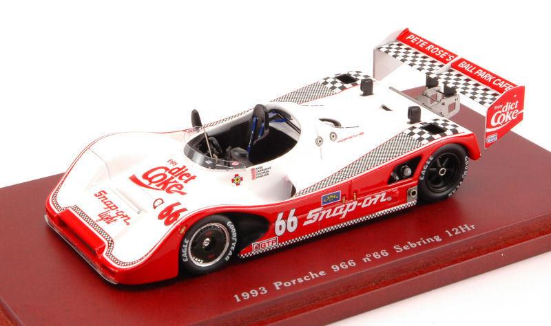 Porsche 966  66 12h Sebring 1993 Diet Coke 1 43 Model TRUE SCALE MINIATURES