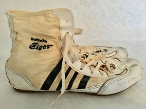 sports shoes 599b3 6de24 Details about ASICS ONITSUKA TIGER WRESTLING SHOES - VINTAGE 1960s-70s &  RARE (SIZE 8.5) MEN'S