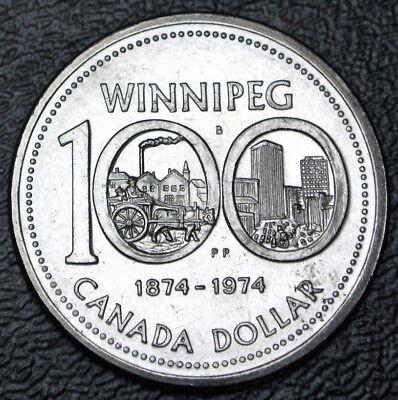 1974 $1 Single Yoke Canada Dollar Winnipeg Centennial Prooflike
