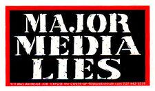 Major Media Lies - Magnetic Small Media Reform Bumper Sticker / Decal Magnet