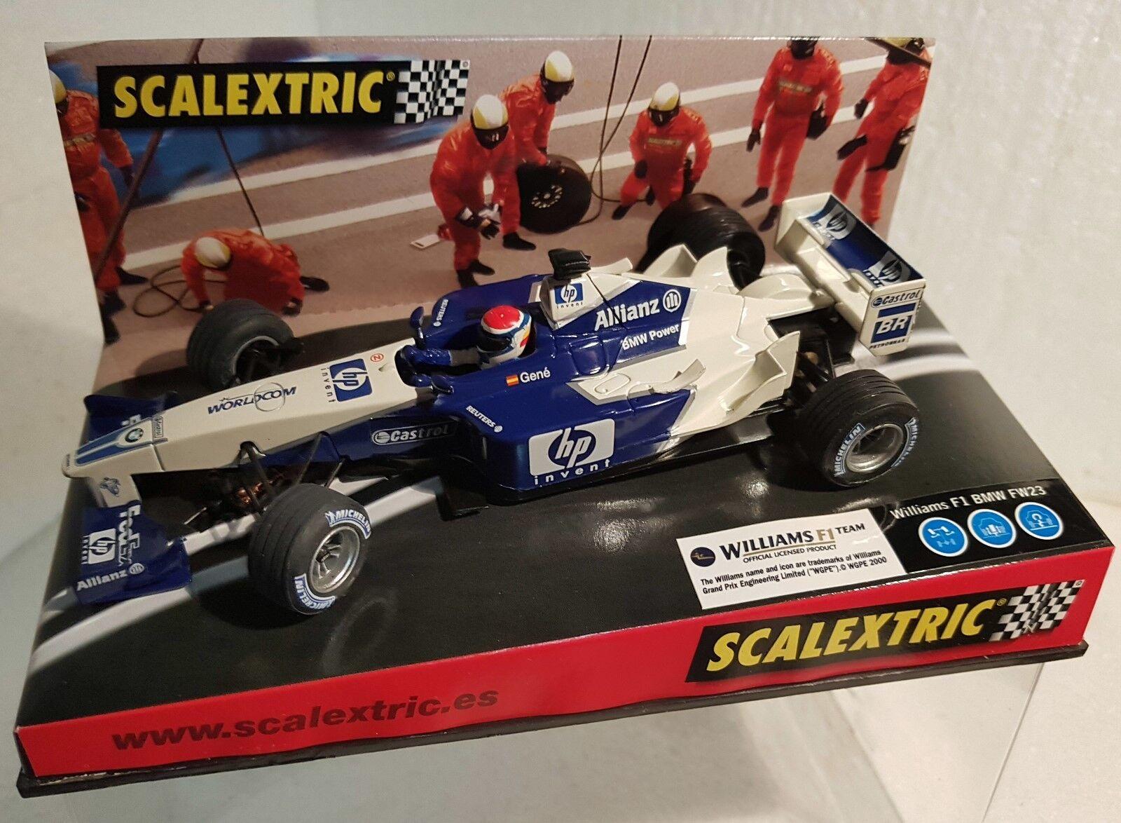 QQ 6108 scalextric (SCX) WILLIAMS F1 bmw FW23 test car '02 Gen ONLY für Spain
