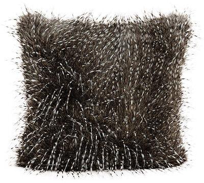 Kissen Kunstfell grau, edel 45x45 cm (16444w) Dekokissen Deko Fellkissen Sofa
