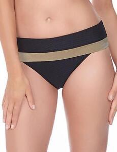 Fantasie-Monaco-Clasico-veces-Bikini-Breve-Pantalon-6191-Stardust-Negro-Nuevo-Traje-De-Bano