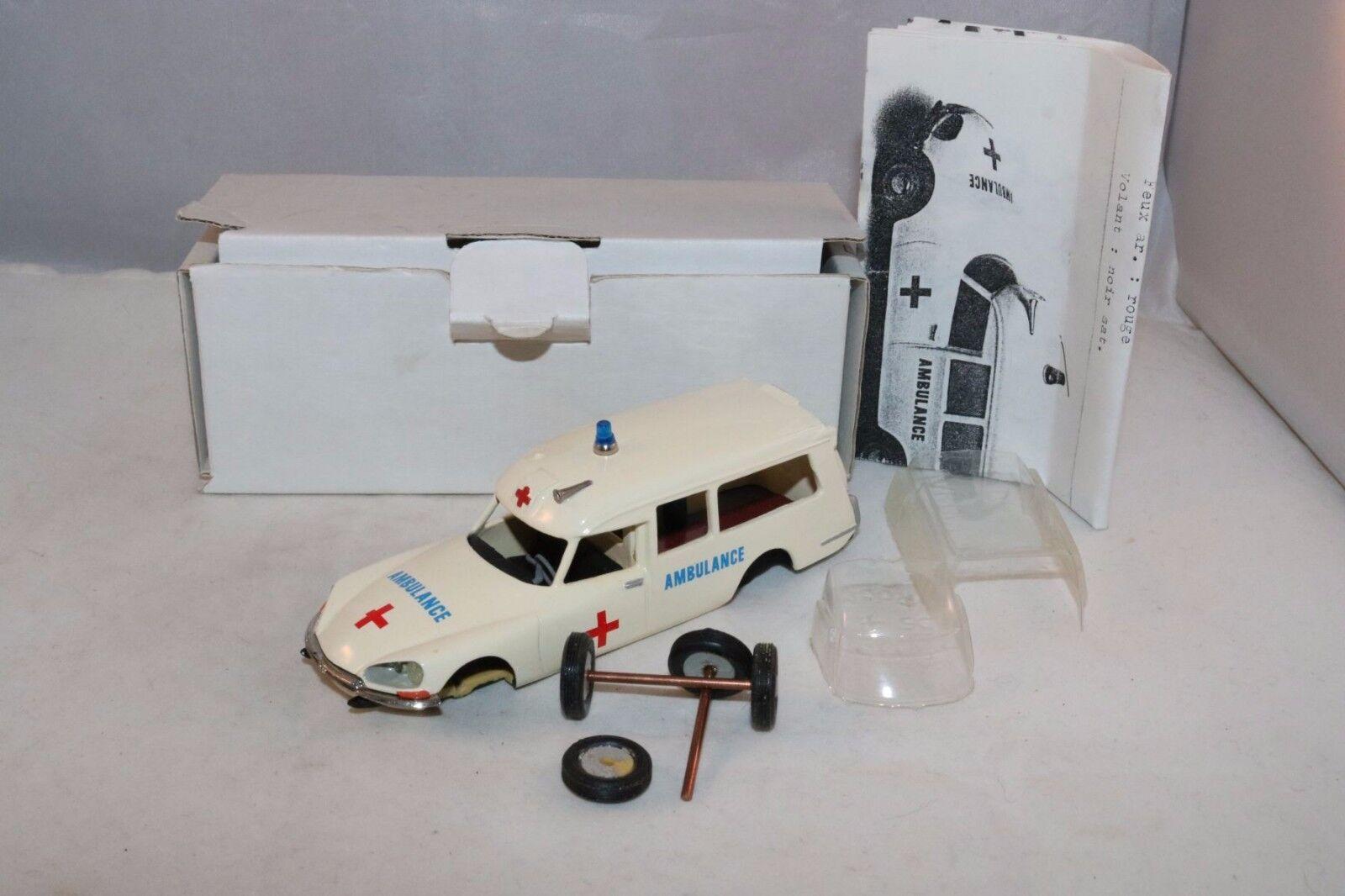 Brumm - frankreich citroen ds krankenwagen harz kit gebaut 1 43 mint weißen kasten