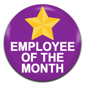 employee of the month purple 25mm 1 inch d pin button badge ebay