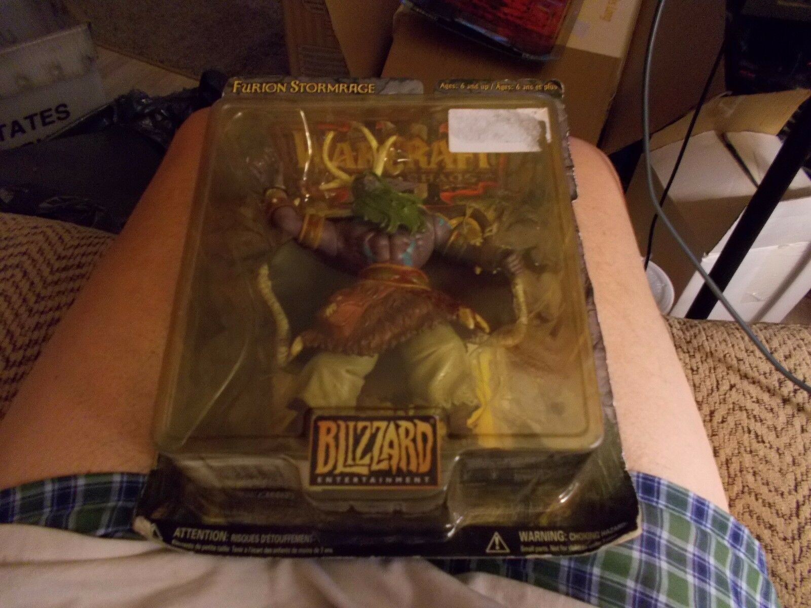 WARCRAFT REIGN OF CHAOS FURION STORMRAGE ACTION FIGURE BRAND NEW IN PLASTIC