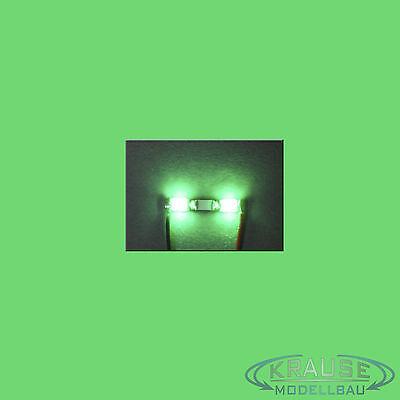 Miniatur Lichtleiste 2 SMD LEDs Typ 0805 orange Modellbahn Kirmes Modellbau