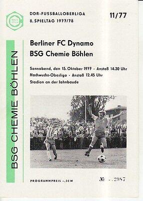 OL 78//79 BFC Dynamo Berlin-Chemie Böhlen