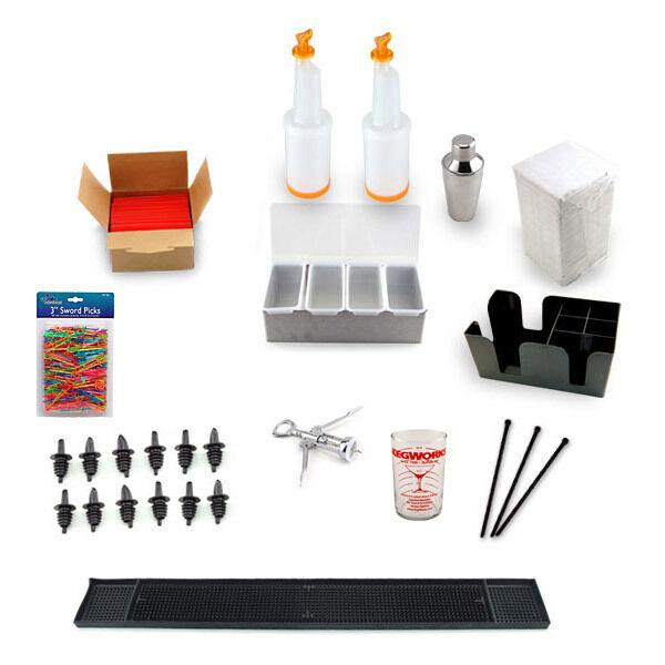 Pro Bar Accessories Kit- Bartend Starter Cocktail Mixing Set Pub Tools & Gadgets