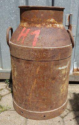 UnabhäNgig Alte Milchkanne Stahl Auch Garten Deko Schirmständer Nr 2917/13 Omira Und Verdauung Hilft Original, Vor 1960 Gefertigt