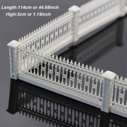 13x115CM Kunststoff Geländer Zaun 1:86 Modell Eisenbahn Gebäude Bastel DIY Dekor