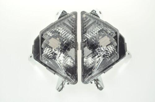 Smoked Turn Signal Indicators Cover For Kawasaki 13-18 ZX-6R 636