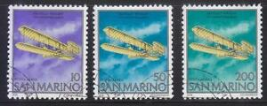 SAN-MARINO-1978-75TH-ANNIV-OF-1ST-POWERED-FLIGHT-WRIGHT-BROTHERS-OF-4-STAMPS