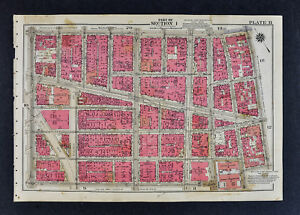 1834 New York City Map Manhattan Canal Street Little Italy Chinatown ... 32354ea7647ef