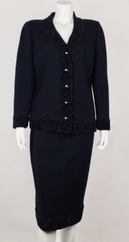 Stizzoli Evening Women's Skirt Suit Wool 44 US8 Bl