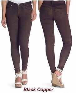 736dcad68f3 Image is loading Levi-039-s-Jeans-Black-Copper-Metallic-Wash-