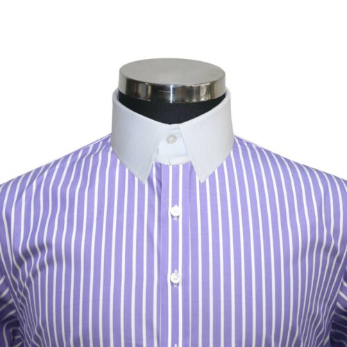 Collare James Camicie Uomo Viola Bond Lilla Anello Cotton Righe Colletto 100 HrH4vfOWq