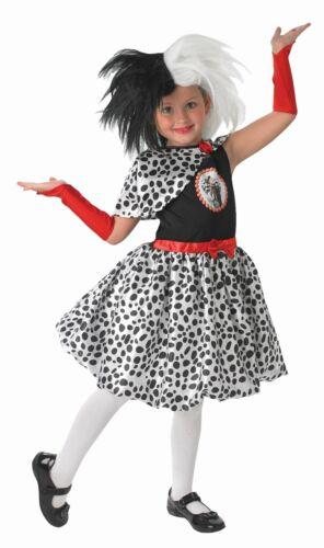 Fancy Dress Costume ~ Disney Cruella De Vil Costume Ages 3-8 Years