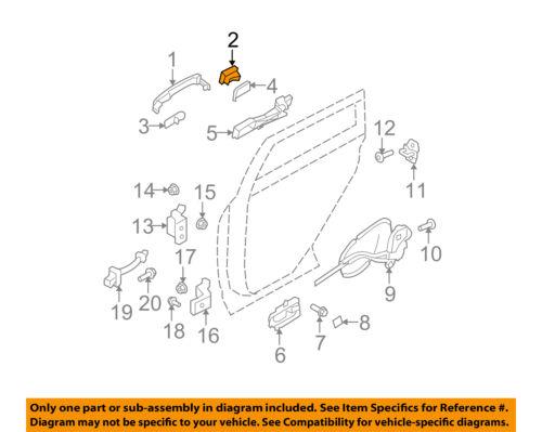 Rear Door Handle Escutcheon 80645JG01A Chrome plait NISSAN OEM 10-13 Rogue Lock