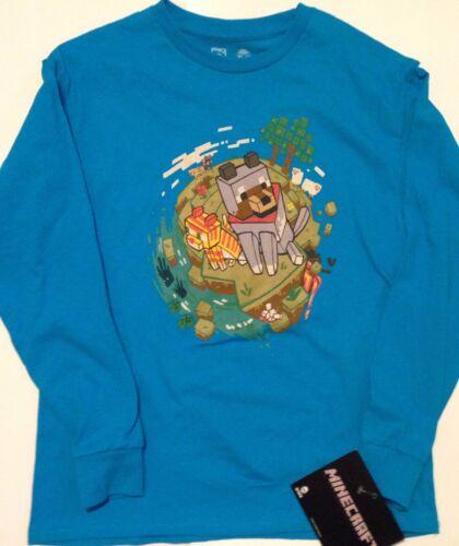 MINECRAFT DOG  T Shirt   Boys 6//8  10//12 14//16  18//20  Enderman Sheep Cat