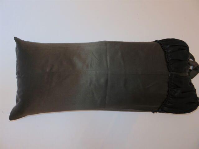 Donna Karan WATER LILY Silk Deco pillow Lava Black NWT