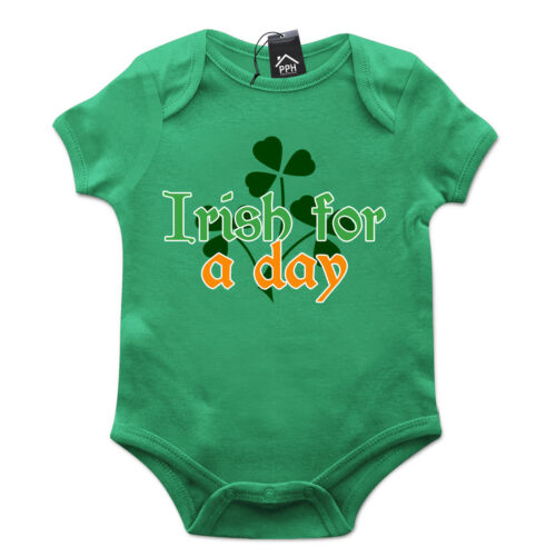 Irish for a day drink irlande st patricks day baby grow cadeau babygrow costume P16