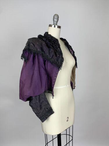 RARE Antique Victorian Purple silk Bridgerton cors