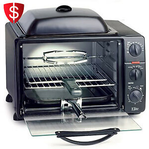 Countertop Oven Grill : Toaster-Oven-Rotisserie-Grill-Top-Lid-Countertop-Kitchen-Bake-Broil-23 ...