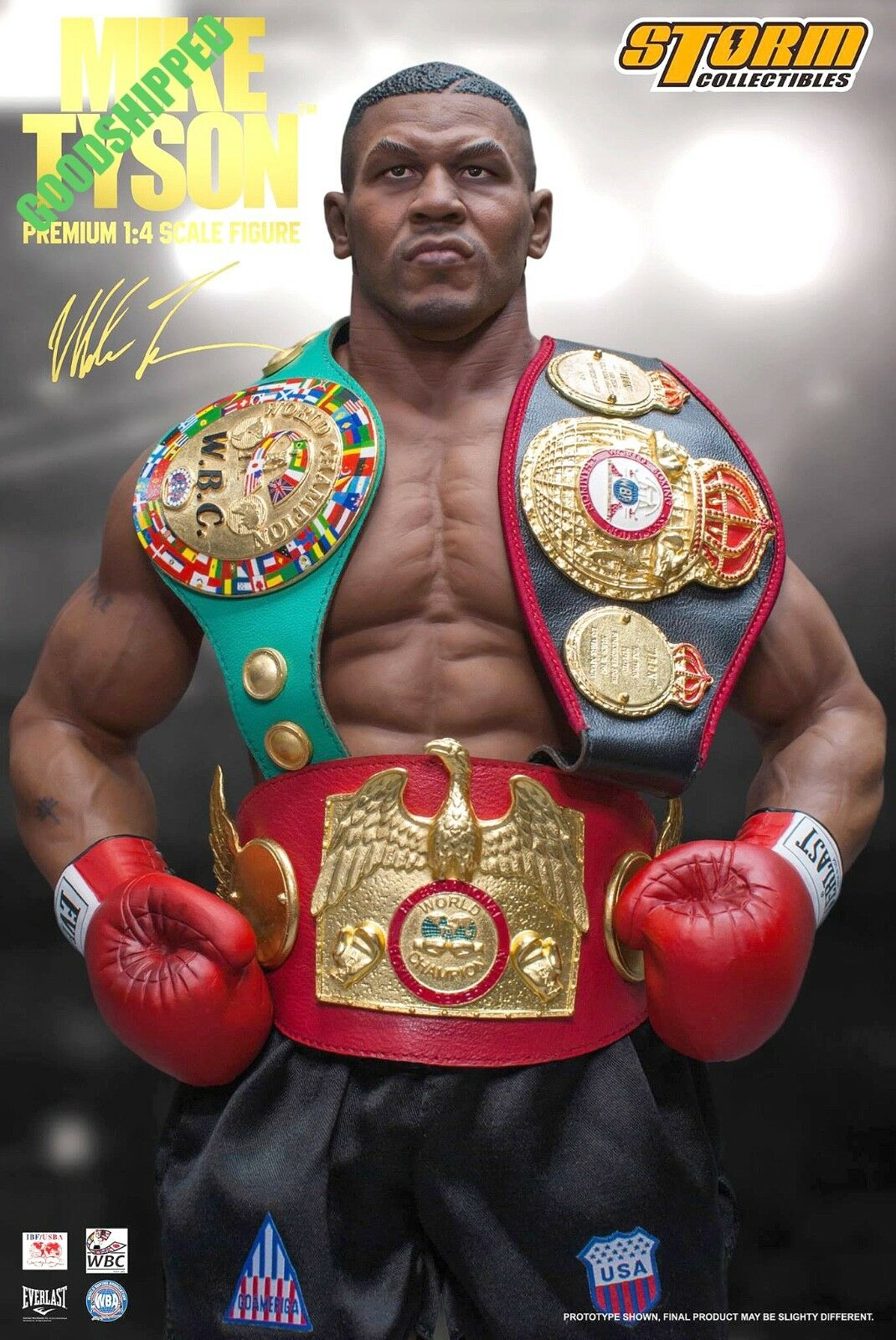 Precio por piso Storm Juguetes Mike Tyson peso pesado campeón campeón campeón de boxeo Everlast 1 4 estatua Listo Nuevo  calidad auténtica