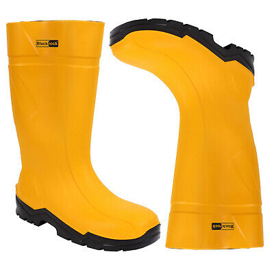 BlackRock amarillo PU Seguridad Wellington Wellies Botas Impermeables de aislamiento térmico