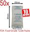 50x-10gm-Food-Grade-Silica-Gel-Packets-Desiccant-Moisture-Absorber-Tyvek-Packs