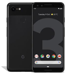 Google-Pixel-3-64GB-Just-Black-Unlocked-5-5-034-SMARTPHONE-10-10-Never-Used