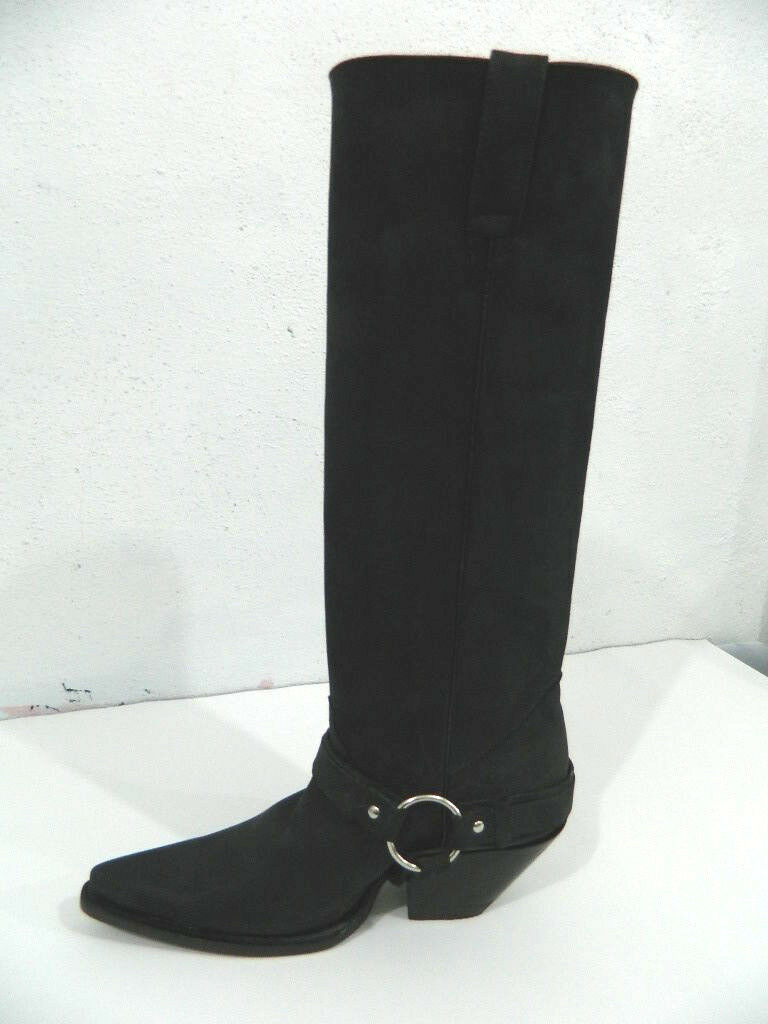 Harness cowboy boots with 19 inches tall shafts made to order boots any size