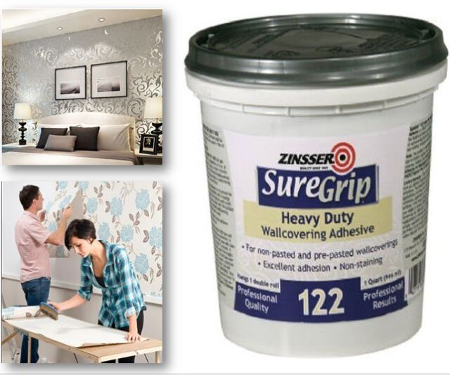 Adhesive Wallpaper Glue Stick Wall Hang Background Decor Easy