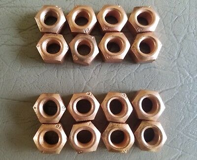 VW AUDI COPPER EXHAUST NUT M8 X 1.25 SET OF SIXTEEN CRIMPED LOCK NUT $16