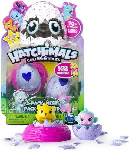 Hatchimals colleggtibles saison 1 violet 2 Pack Avec Nest Playset New Entièrement neuf dans sa boîte #NG