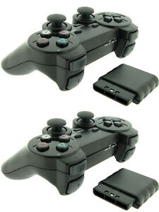 2x-For-Sony-PS2-2-4G-Wireless-Twin-Shock-Game-Controller-Joystick-Joypad
