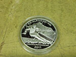 10-Euro-Silber-PP-2010-FIS-Alpine-Ski-WM