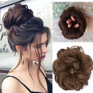 La Foto Se Esta Cargando Women Curly Messy Bun Hair Piece Scrunchie Updo