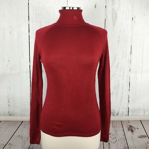 Delta-Airlines-Collection-Sweater-S-Stewardess-Flight-Attendant-Red-Turtleneck