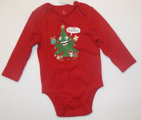 Old Navy Infant Chirstmas Long Sleeve Bodysuit Unisex Size 3-6 Months