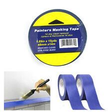 "2 Rolls Painters Blue Masking Paint Tape 1.89""x15Yd Multi Surface Premium Grade"