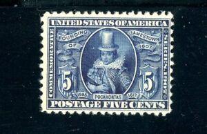 USAstamps-Unused-FVF-US-Jamestown-Pocahontas-Scott-330-MNG