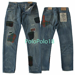 540f4120f Image is loading New-298-Polo-Ralph-Lauren-Women-Patchwork-Jeans-. Image not  available ...
