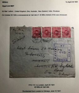 1941-British-Forces-FPO-172-Egypt-Censored-Cover-To-London-England
