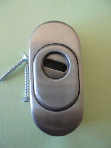 De sécurité Rosette avec Ziehschutz Ovale Acier Inoxydable 9 mm fortement