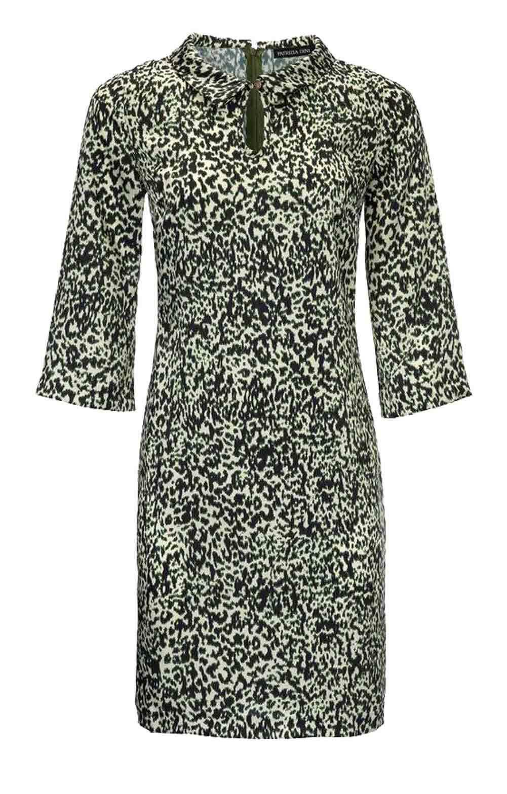 TCJ 007.363 elegantes Kleid Designerkleid  Druckkleid Sommerkleid grün bunt